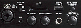 Denon DN-F350 Media Player, front panel detail 1