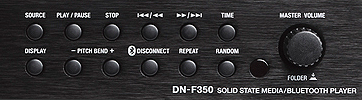 Denon DN-F350 Media Player, front panel detail 2