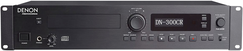Denon DN-300CR Professional CD Recorder, front panel