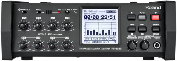Roland R-88 8-Channel Portable Audio Field Recorder with Internal Mixer