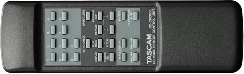 Tascam CD-200iL Pro CD & iDevice Player, Remote Control