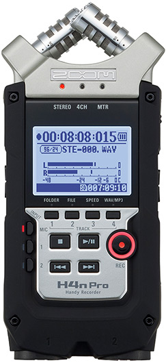 Zoom H4n Pro Portable 4-Track Audio Recorder