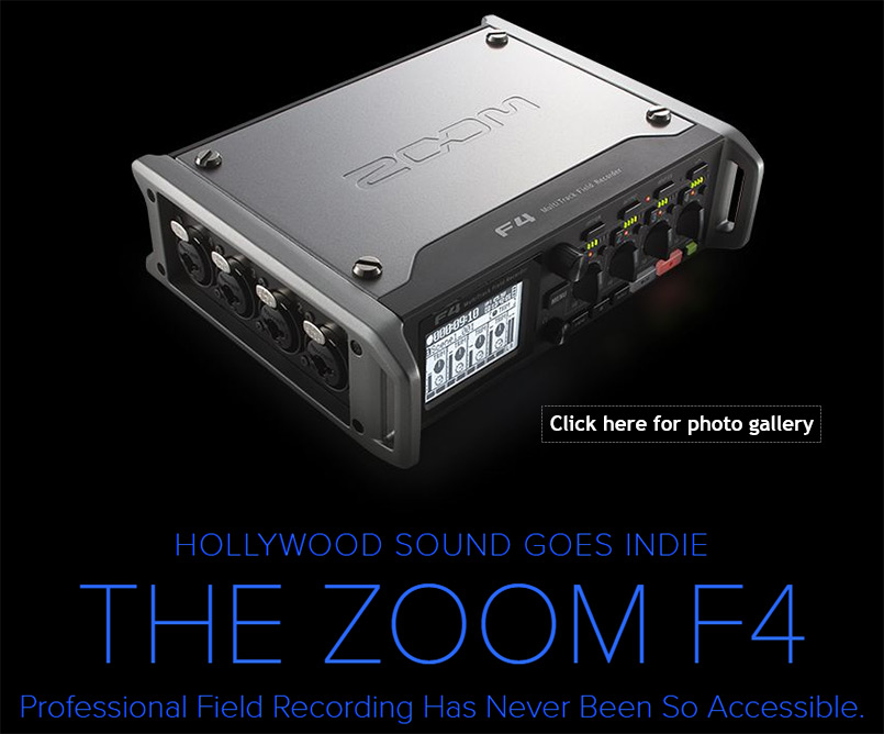 Zoom F4 Professional 4-Track Field Recorder & Mixer