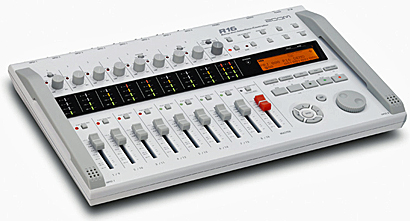 Zoom R16 Portable 16-Track Recorder Mixer Interface Controller, angled